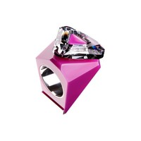 thumb-Big Ring driehoek roze - zilver-1