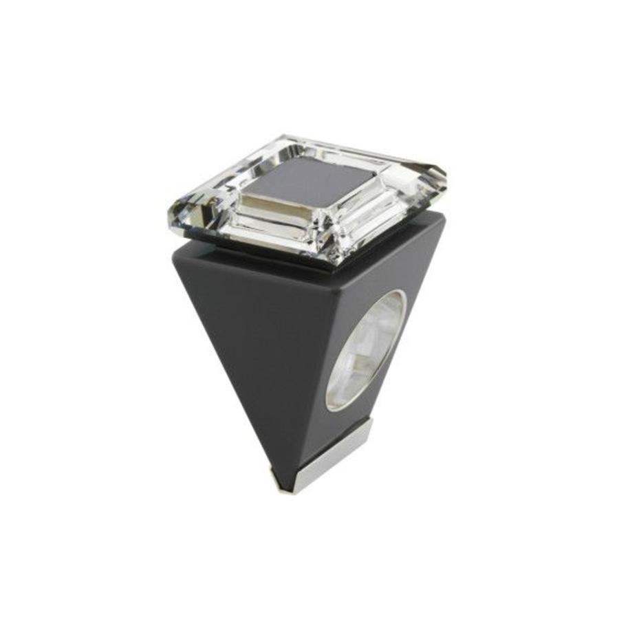Big Ring vierkant zwart - zilver-1