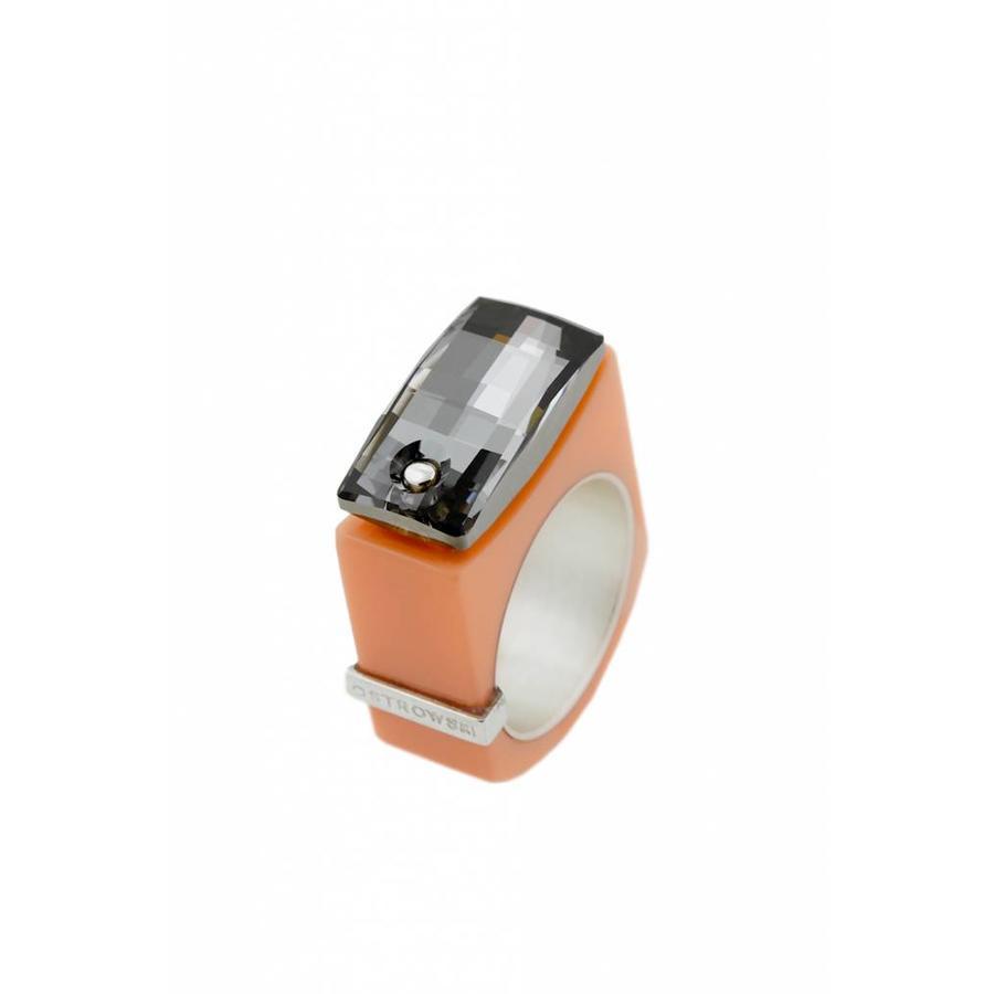 Ring Chic pastel oranje-2