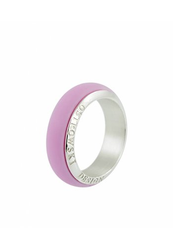 Ostrowski Design Ring Joy Line sweet roze - zilver