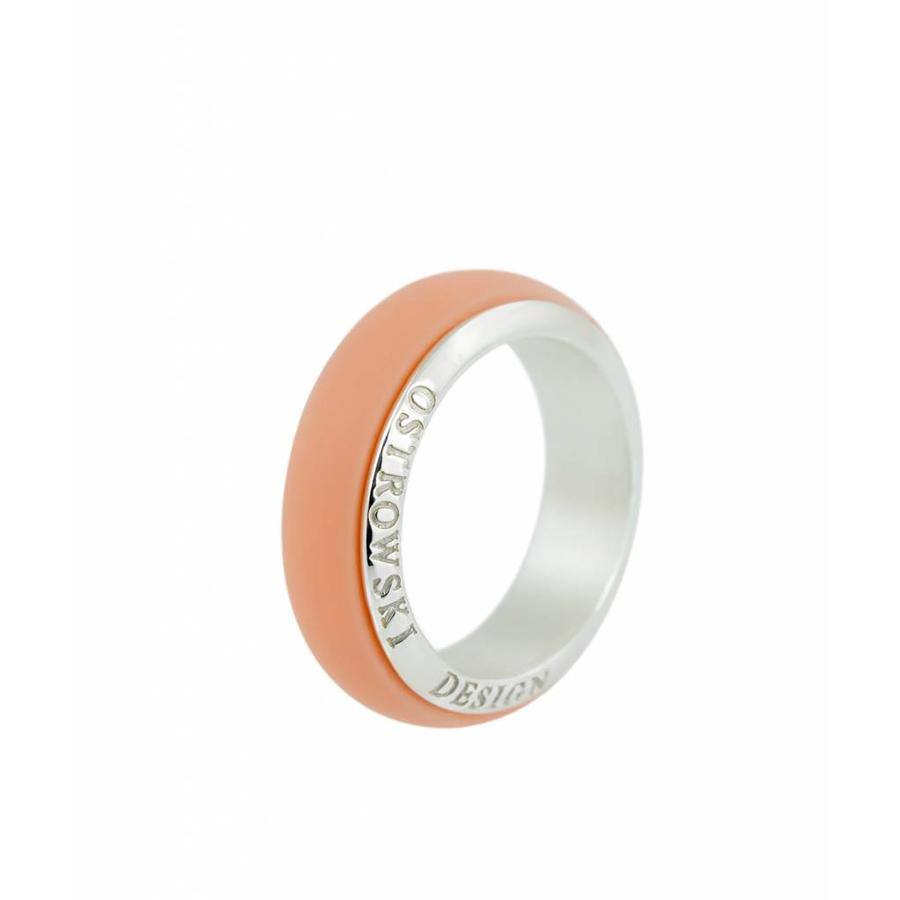 Ring Joy Line pastel oranje - zilver-1