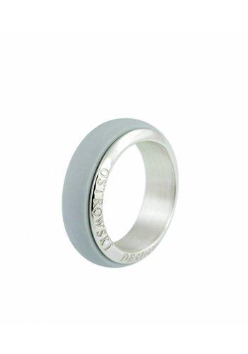 Ostrowski Design Ring Joy Line licht grijs - zilver