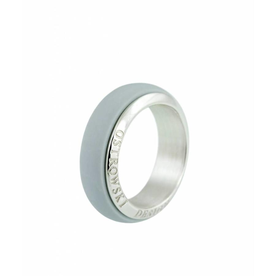 Ring Joy Line licht grijs - zilver-1
