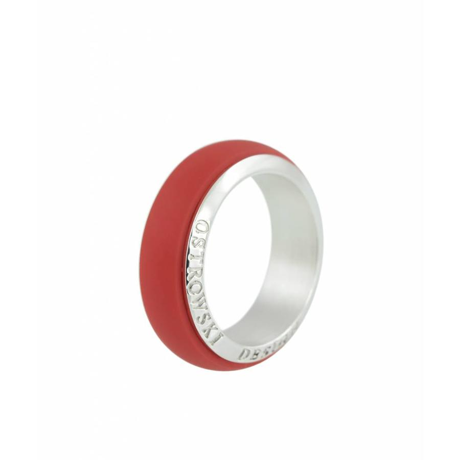 Ring Joy Line koraal - zilver-1