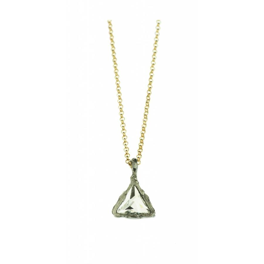 "Ketting ""art deco"" M2495 Crystal-1"
