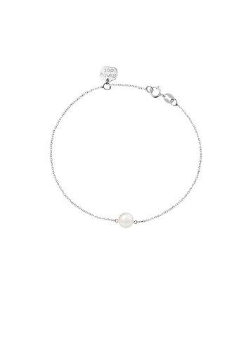 "Minty dot Armband ""natural"" My precious pearl - zilver"