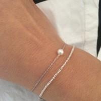 """thumb-Armband """"natural"""" My precious pearl - zilver-2"""