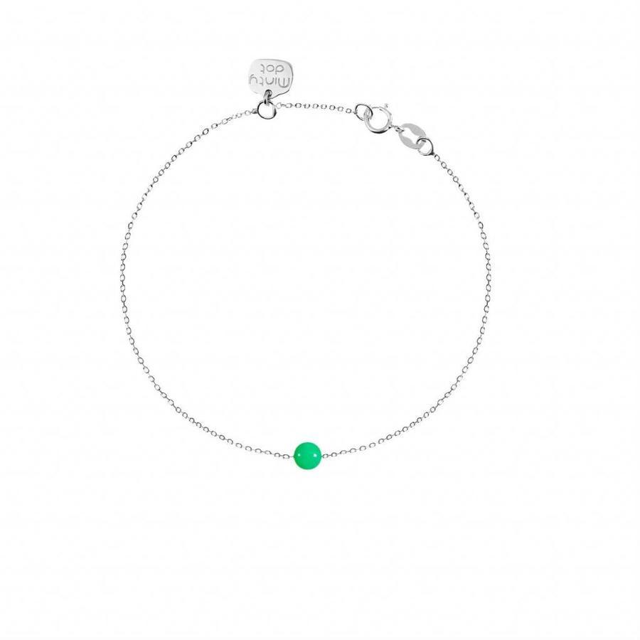 "Armband ""natural"" Chrysopraas - zilver-1"