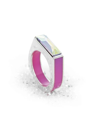 Ostrowski Design Ring Classic Light roze - zilver
