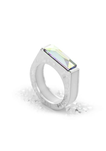 Ostrowski Design Ring Classic Light wit - zilver