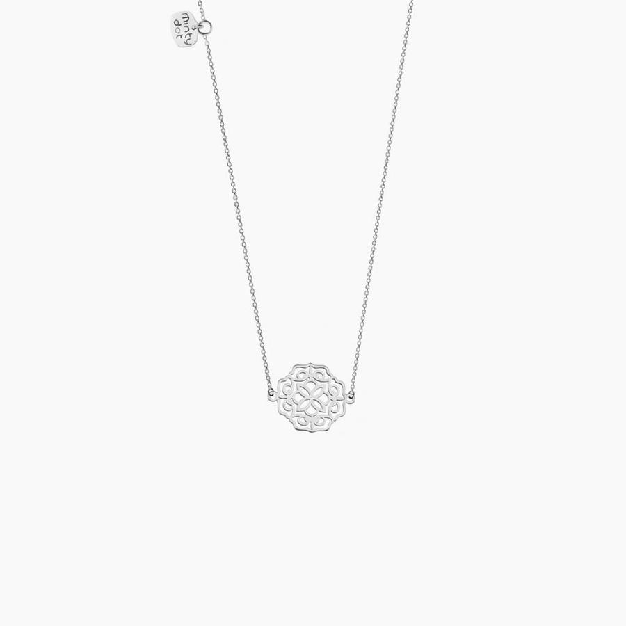 "Ketting ""lace"" - zilver-2"
