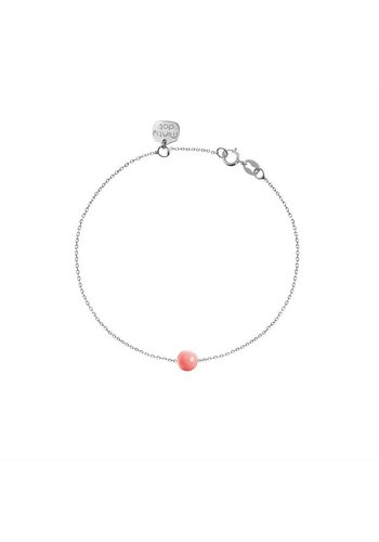 "Minty dot Armband ""forget me not"" baaletje- zilver"