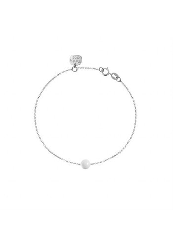 "Minty dot Armband ""forget me not"" baaletje - zilver"
