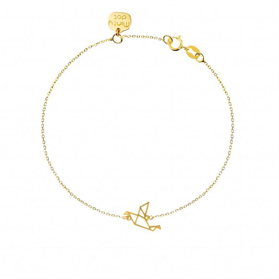 """Armband """"origami"""" Duif - goud-1"""