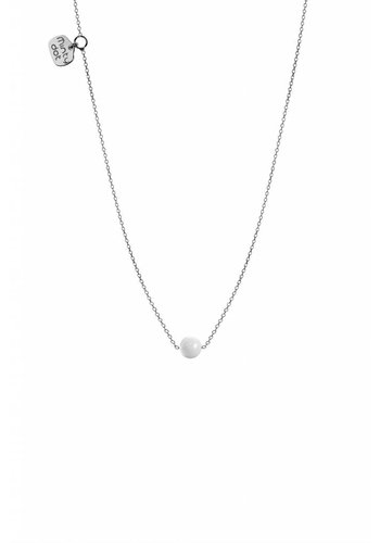 "Minty dot Ketting ""forget me not""balletje- zilver"