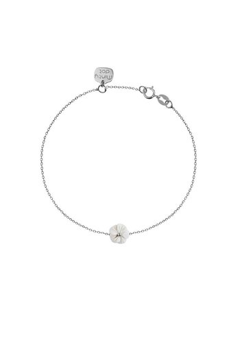 "Minty dot Armband ""forget me not"" - zilver"