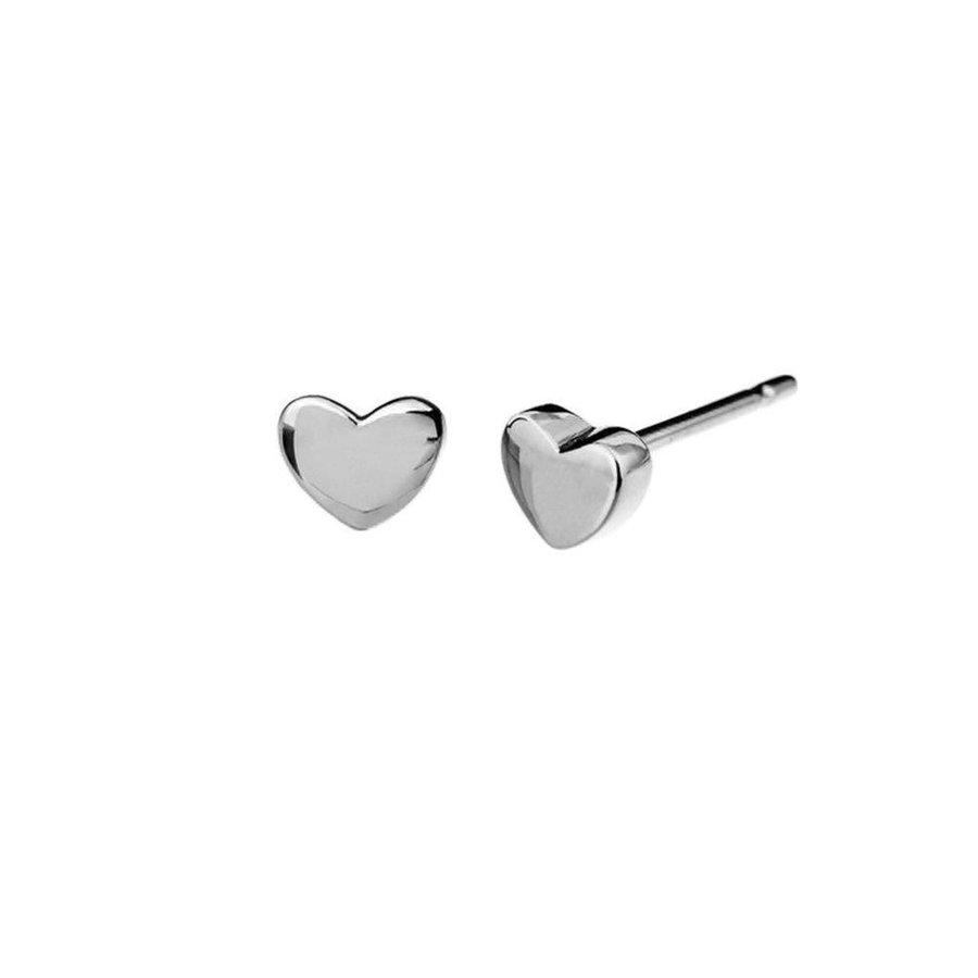 """Oorbellen """"heart"""" -zilver-1"""