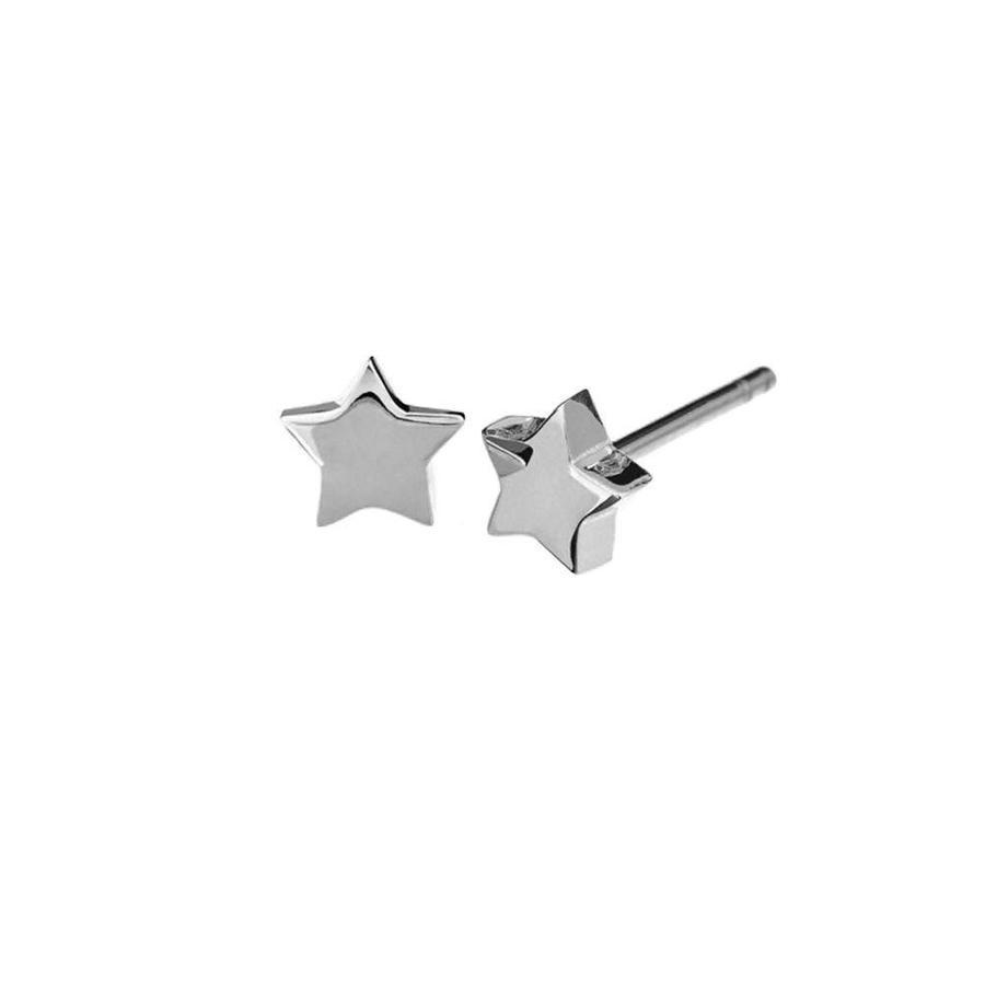 """Oorbellen """"star"""" -zilver-1"""