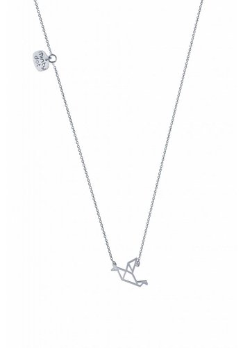 "Minty dot Ketting ""origami"" Duif - zilver"