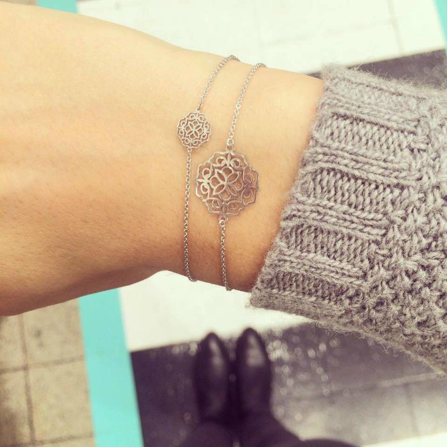 "Armband ""lace"" klein- zilver-2"