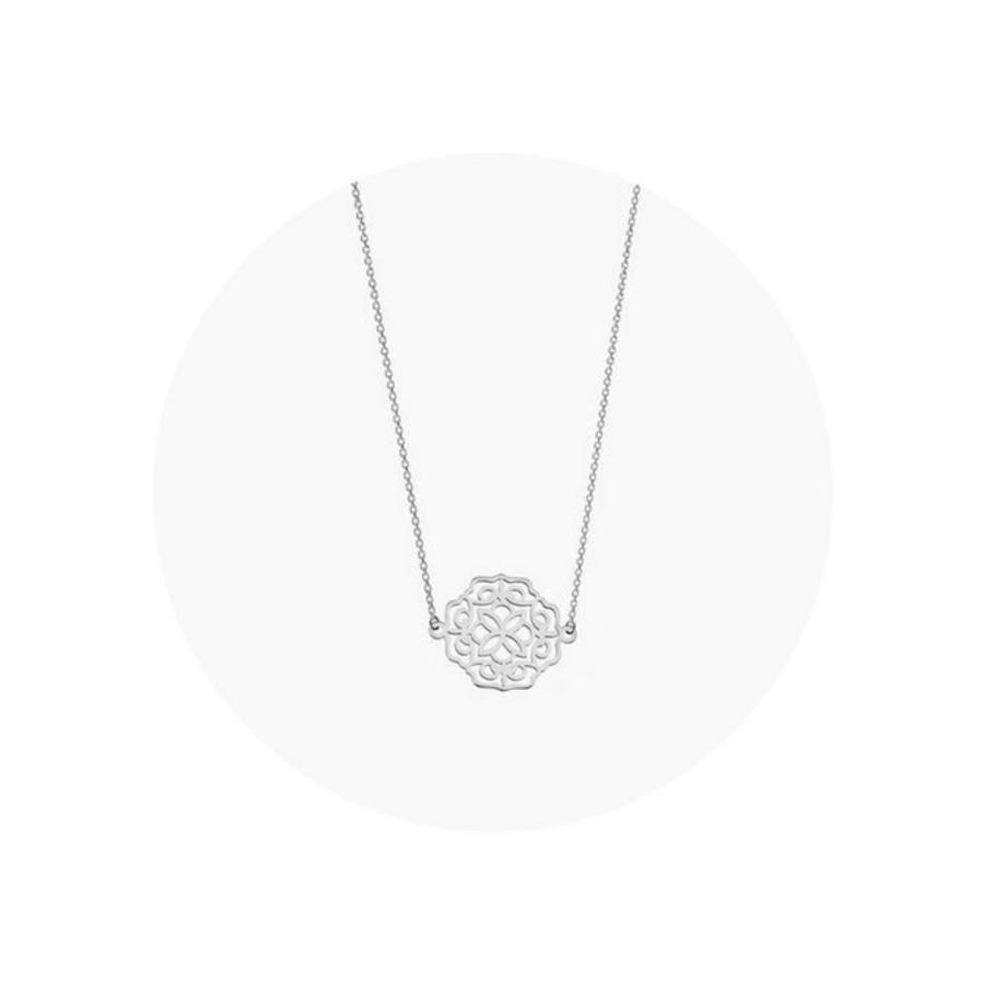 "Ketting ""lace"" - zilver-1"