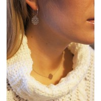 "thumb-Ketting ""lace"" - zilver-3"
