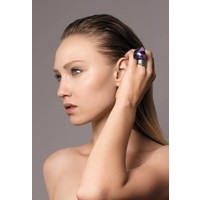 "thumb-Ring ""skin to skin"" M5448 met Swarovski kristal by Jean Paul Gaultier-2"