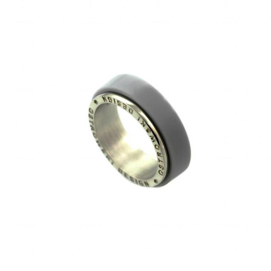 Ring Joy Line licht grijs - zilver-2
