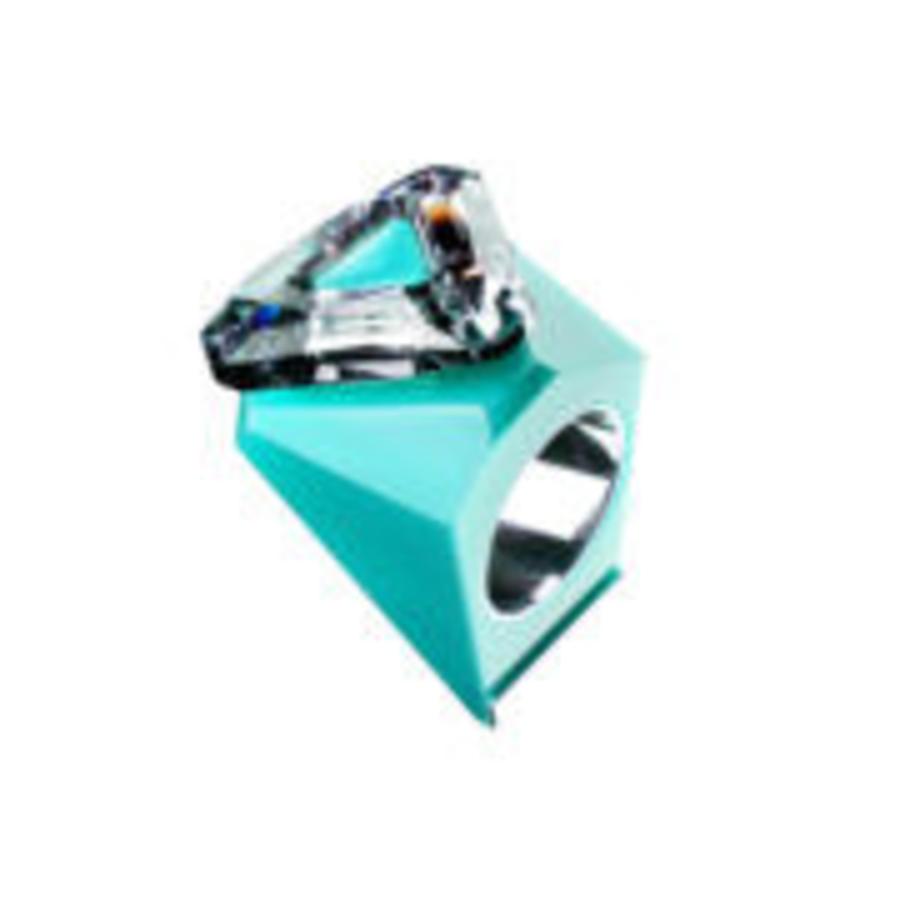 Big Ring driehoek mint -zilver-1