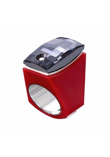 Ostrowski Design Ring Super Chic rood