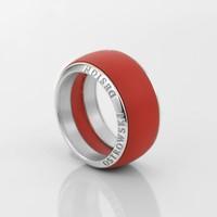 thumb-Ring Joy Line max koraal - zilver-1