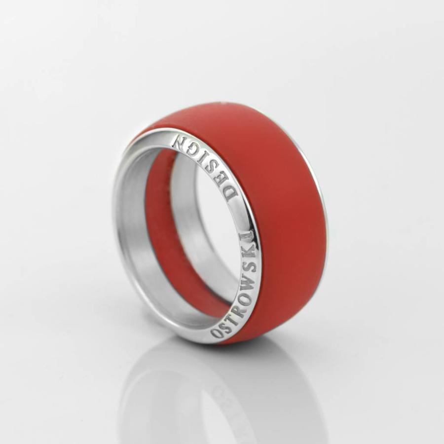 Ring Joy Line max koraal - zilver-1