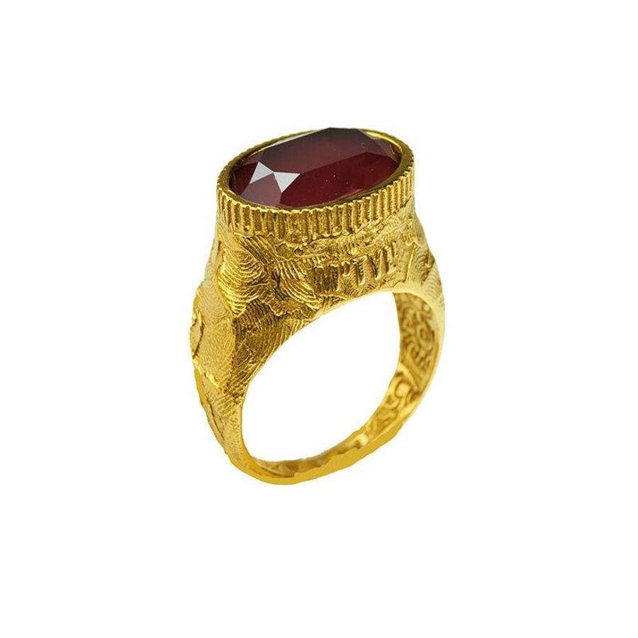 "Ring ""moroccan rose"" MG5523 Dark Red-1"