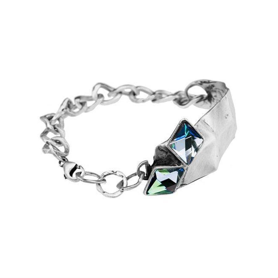 "Armband ""aurora"" MR3527"" met Swarovski kristal Berm Metal Blue-1"