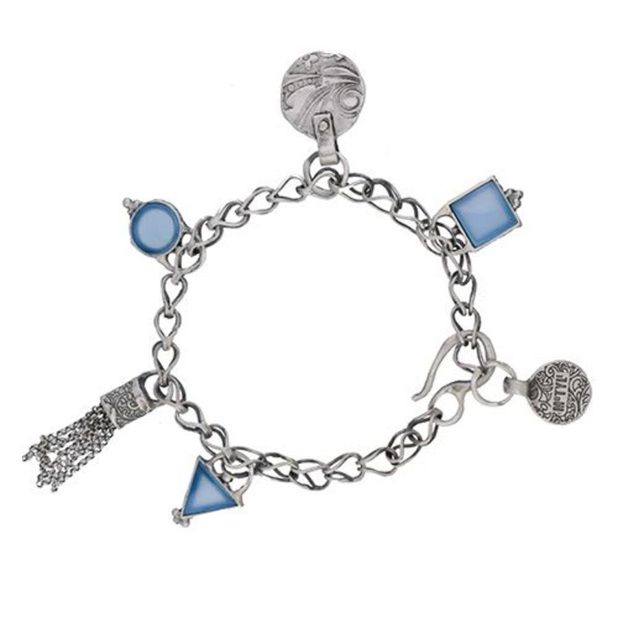 "Armband ""Tuareg men"" MS3518 met blauwe agaat-1"
