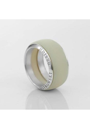 Ostrowski Design Ring Joy Line max cappuccino - zilver