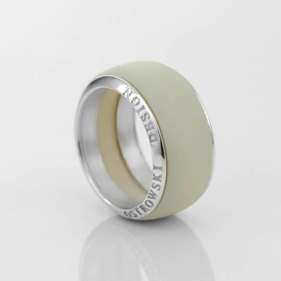 Ring Joy Line max cappuccino - zilver-1
