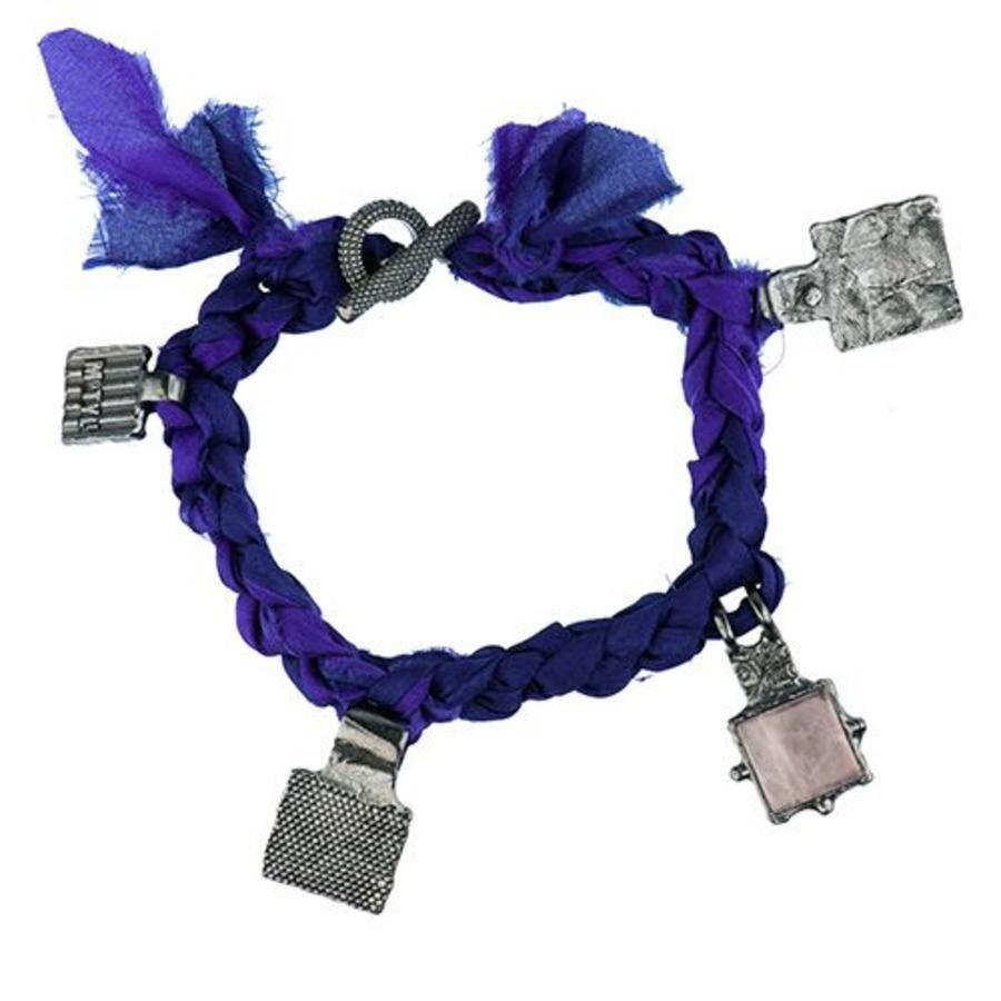 "Armband ""Tuareg men"" MJR3051 met roze kwarts-1"