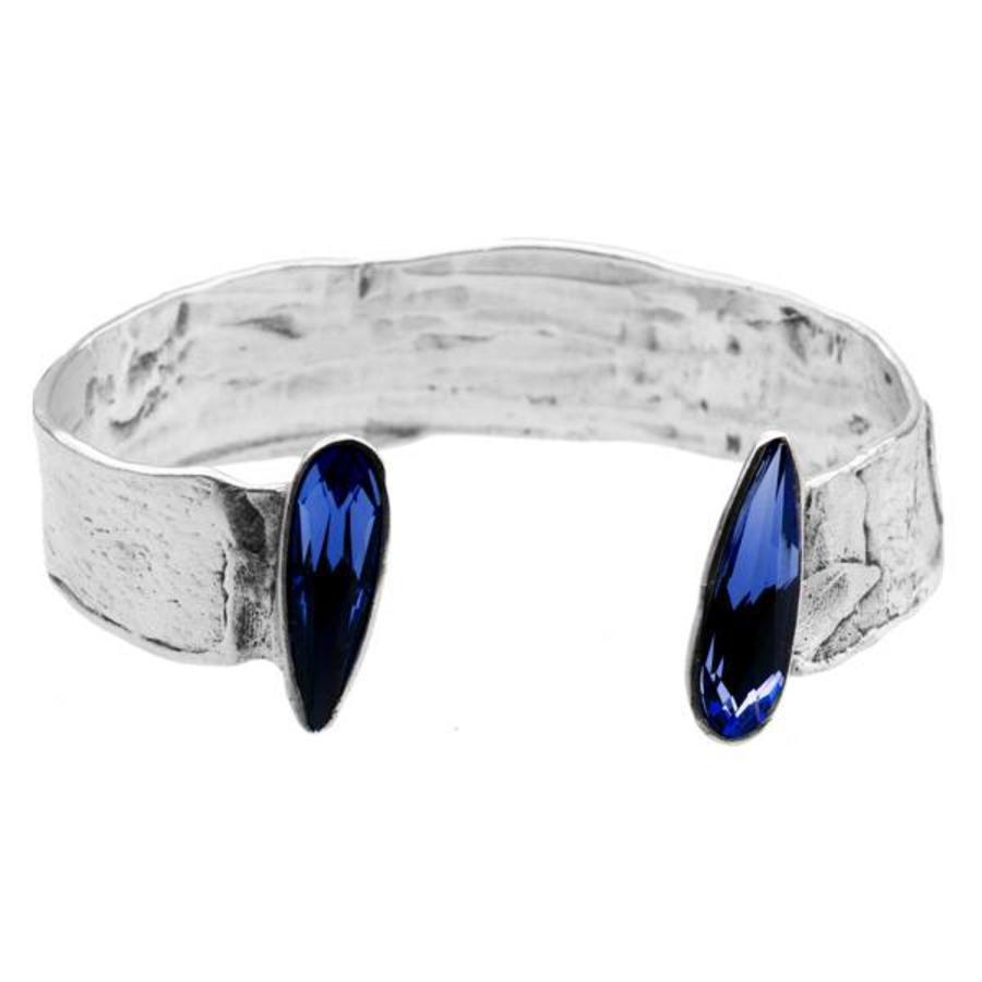 """Armband """"skin to skin""""M3443 met Swarovski kristal Tanzanite-1"""