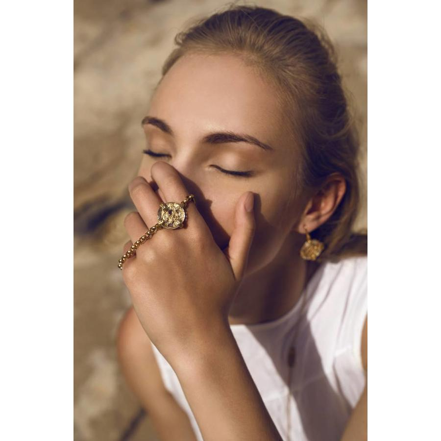 "Ring  ""cosmic love"" MG5534  Crystal-2"