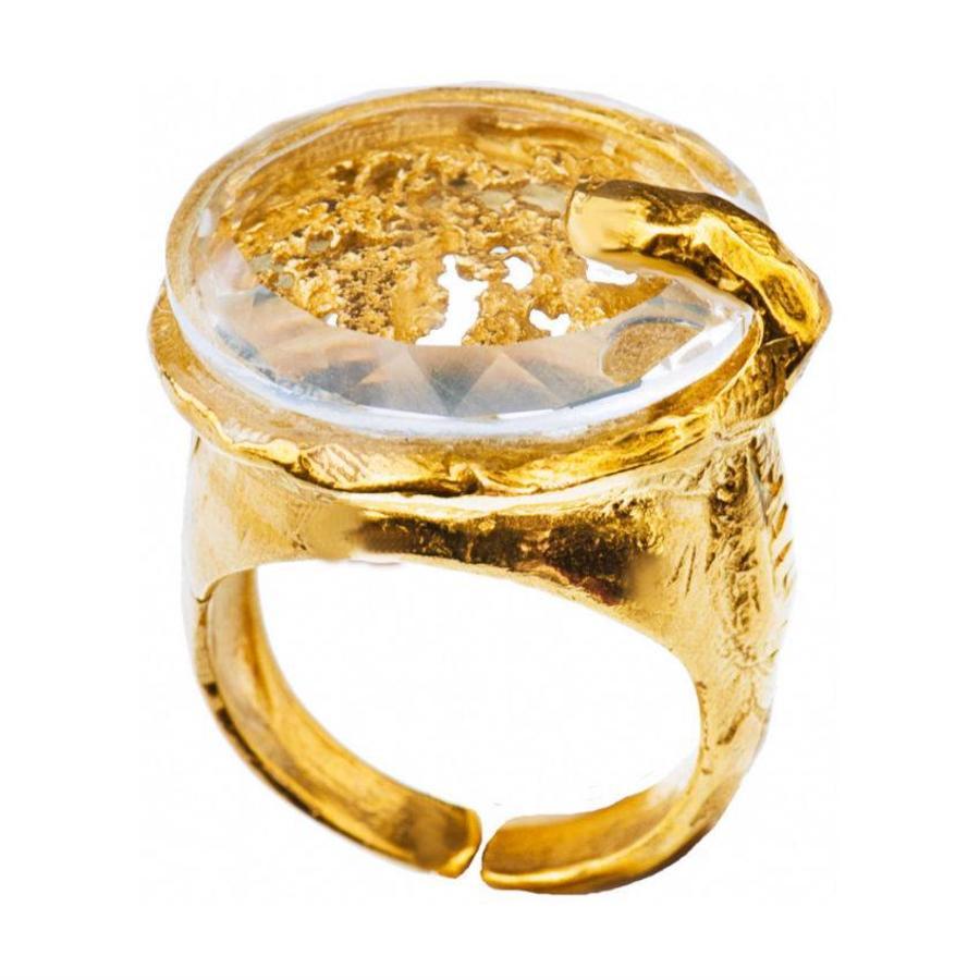 "Ring  ""cosmic love"" MG5534  Crystal-1"