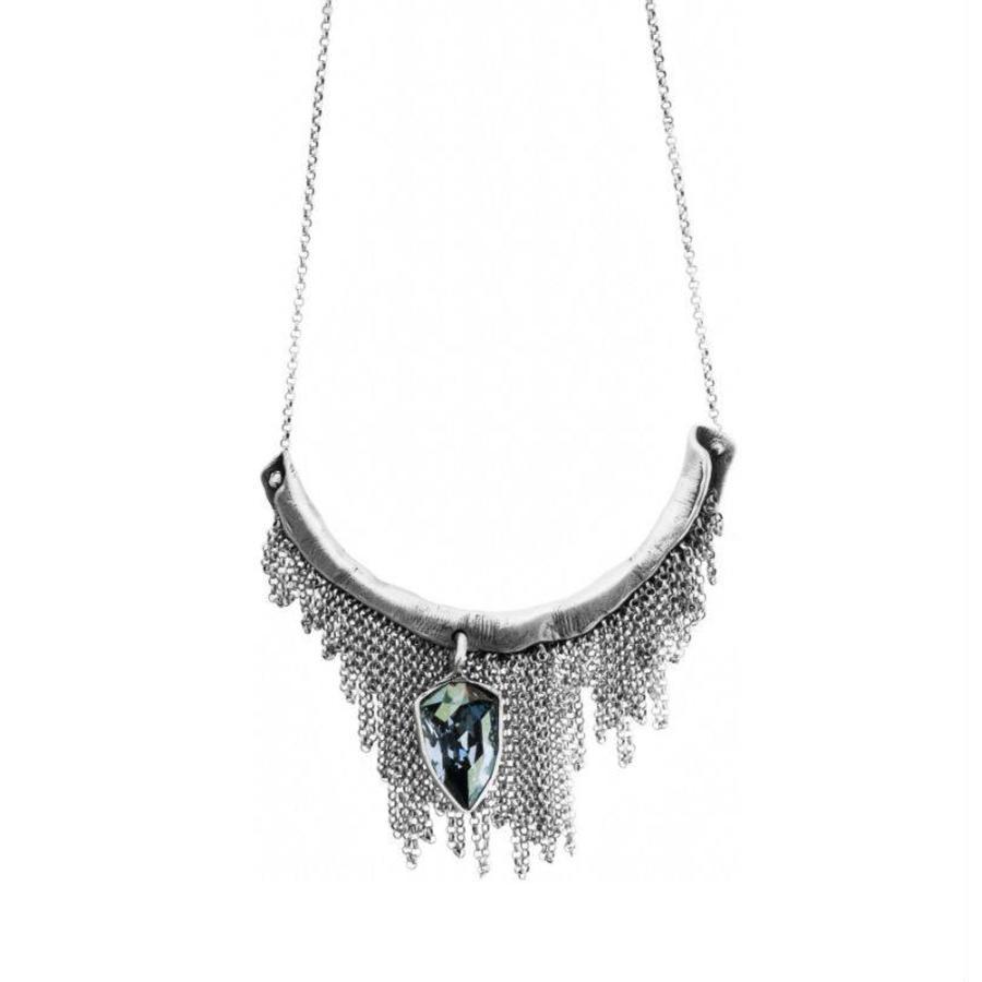 "Ketting ""monarchy"" MS2535 Crystal Blue Shade-1"