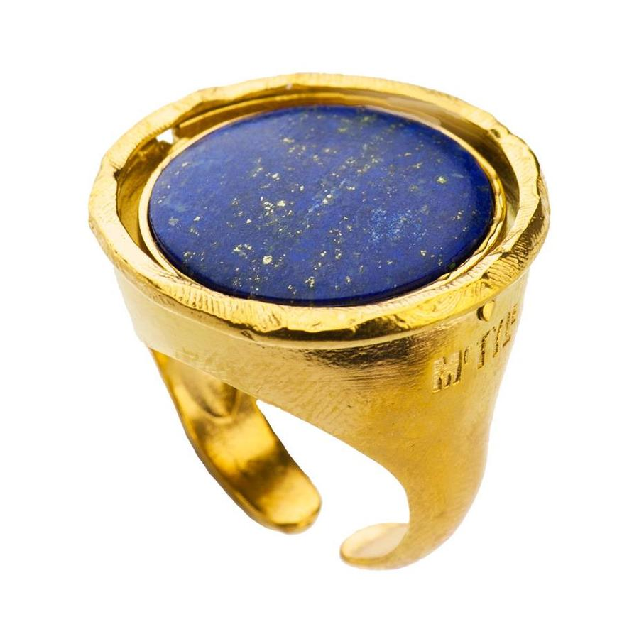 """Ring """"neferetiti"""" MG5564 Lapis Lazuli/Pyriet-1"""
