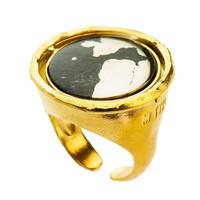 "thumb-Ring ""neferetiti"" MG5564 Lapis Lazuli/Pyriet-2"