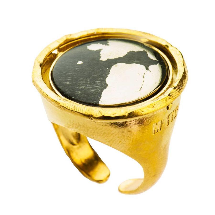 """Ring """"neferetiti"""" MG5564 Lapis Lazuli/Pyriet-2"""