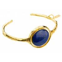 """thumb-Armband   """"neferetiti"""" MG356 Lapis lazuli/Pyriet-1"""