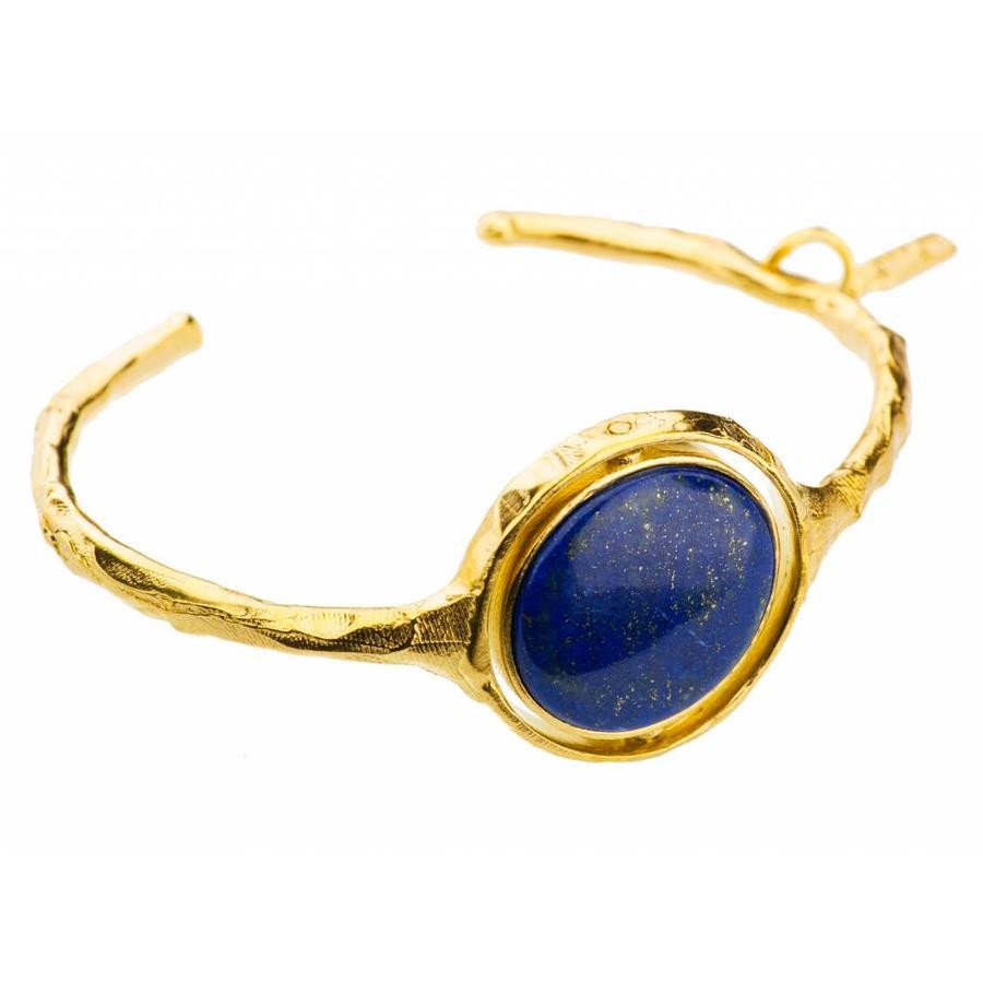 """Armband   """"neferetiti"""" MG356 Lapis lazuli/Pyriet-1"""