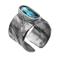 "Ring ""neferetiti"" MR5559 Indicolite"