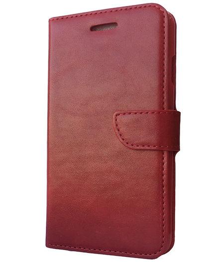 Rood boekje voor de Samsung Galaxy S6 edge plus met vakje voor pasjes, geld en fotovakje
