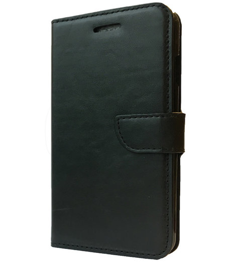 HEM Zwart boekje voor HTC One M9 met vakje voor pasjes, geld en fotovakje
